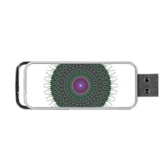Pattern District Background Portable Usb Flash (two Sides)