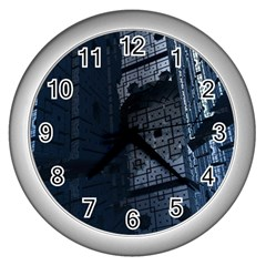 Graphic Design Background Wall Clocks (silver)  by Nexatart