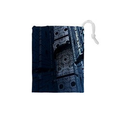 Graphic Design Background Drawstring Pouches (small)