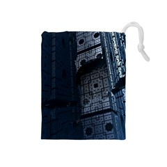 Graphic Design Background Drawstring Pouches (medium)