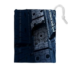 Graphic Design Background Drawstring Pouches (extra Large)