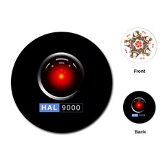 Hal 9000 Playing Cards (round)