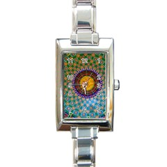 Temple Abstract Ceiling Chinese Rectangle Italian Charm Watch