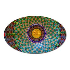 Temple Abstract Ceiling Chinese Oval Magnet by Nexatart