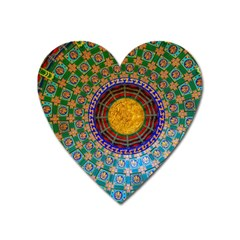 Temple Abstract Ceiling Chinese Heart Magnet by Nexatart