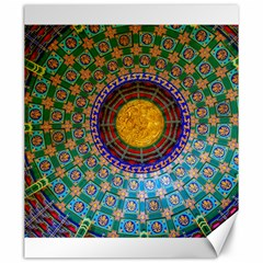 Temple Abstract Ceiling Chinese Canvas 20  X 24