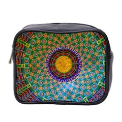 Temple Abstract Ceiling Chinese Mini Toiletries Bag 2 Side by Nexatart