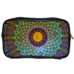 Temple Abstract Ceiling Chinese Toiletries Bags 2 Side