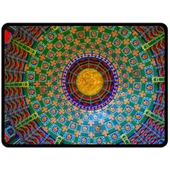 Temple Abstract Ceiling Chinese Fleece Blanket (large)