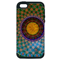 Temple Abstract Ceiling Chinese Apple Iphone 5 Hardshell Case (pc+silicone) by Nexatart