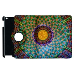 Temple Abstract Ceiling Chinese Apple Ipad 2 Flip 360 Case