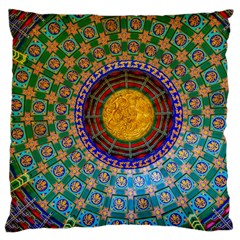 Temple Abstract Ceiling Chinese Large Flano Cushion Case (two Sides)