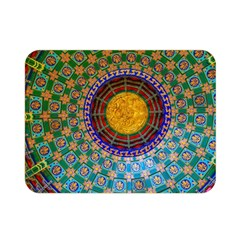 Temple Abstract Ceiling Chinese Double Sided Flano Blanket (mini)