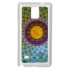 Temple Abstract Ceiling Chinese Samsung Galaxy Note 4 Case (white) by Nexatart