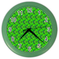 Abstract Art Circles Swirls Stars Color Wall Clocks