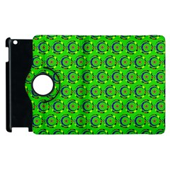 Abstract Art Circles Swirls Stars Apple Ipad 2 Flip 360 Case by Nexatart