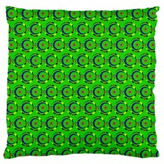 Abstract Art Circles Swirls Stars Large Flano Cushion Case (one Side)