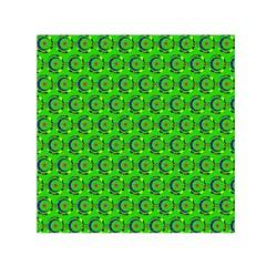 Abstract Art Circles Swirls Stars Small Satin Scarf (square) by Nexatart
