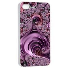 Abstract Art Fractal Art Fractal Apple Iphone 4/4s Seamless Case (white)
