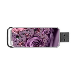 Abstract Art Fractal Art Fractal Portable Usb Flash (one Side) by Nexatart
