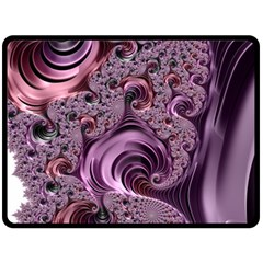 Abstract Art Fractal Art Fractal Double Sided Fleece Blanket (large)  by Nexatart