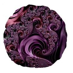 Abstract Art Fractal Art Fractal Large 18  Premium Flano Round Cushions by Nexatart