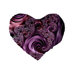 Abstract Art Fractal Art Fractal Standard 16  Premium Flano Heart Shape Cushions