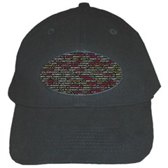Full Frame Shot Of Abstract Pattern Black Cap by Nexatart