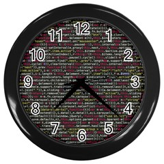 Full Frame Shot Of Abstract Pattern Wall Clocks (black)