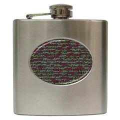Full Frame Shot Of Abstract Pattern Hip Flask (6 Oz) by Nexatart