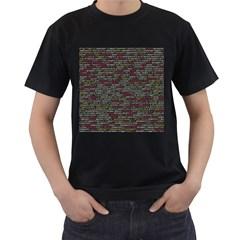 Full Frame Shot Of Abstract Pattern Men s T Shirt (black) (two Sided)