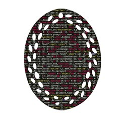 Full Frame Shot Of Abstract Pattern Ornament (oval Filigree) by Nexatart