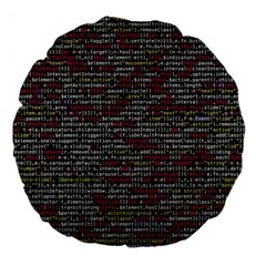 Full Frame Shot Of Abstract Pattern Large 18  Premium Flano Round Cushions by Nexatart