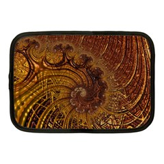 Copper Caramel Swirls Abstract Art Netbook Case (medium)  by Nexatart