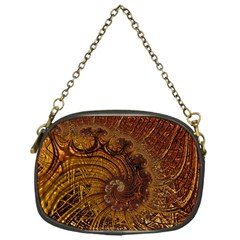Copper Caramel Swirls Abstract Art Chain Purses (one Side)
