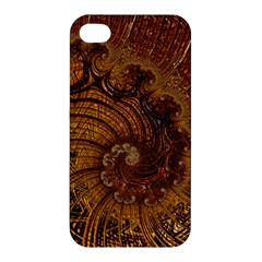 Copper Caramel Swirls Abstract Art Apple Iphone 4/4s Premium Hardshell Case