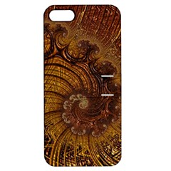 Copper Caramel Swirls Abstract Art Apple Iphone 5 Hardshell Case With Stand by Nexatart