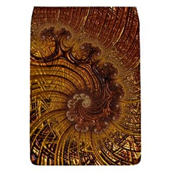 Copper Caramel Swirls Abstract Art Flap Covers (l)