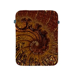 Copper Caramel Swirls Abstract Art Apple Ipad 2/3/4 Protective Soft Cases