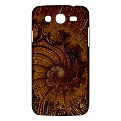 Copper Caramel Swirls Abstract Art Samsung Galaxy Mega 5 8 I9152 Hardshell Case  by Nexatart