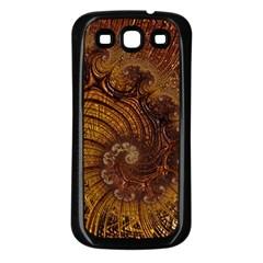 Copper Caramel Swirls Abstract Art Samsung Galaxy S3 Back Case (black) by Nexatart