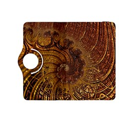 Copper Caramel Swirls Abstract Art Kindle Fire Hdx 8 9  Flip 360 Case