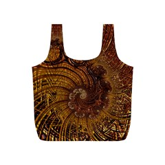 Copper Caramel Swirls Abstract Art Full Print Recycle Bags (s)