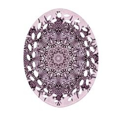 Sacred Art Shaman Shamanism Oval Filigree Ornament (two Sides) by Nexatart