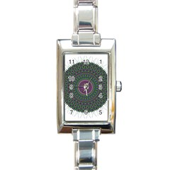 Pattern District Background Rectangle Italian Charm Watch