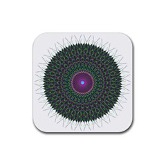 Pattern District Background Rubber Square Coaster (4 Pack)  by Nexatart