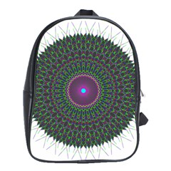 Pattern District Background School Bags (xl)  by Nexatart