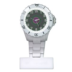 Pattern District Background Plastic Nurses Watch