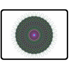 Pattern District Background Double Sided Fleece Blanket (large)