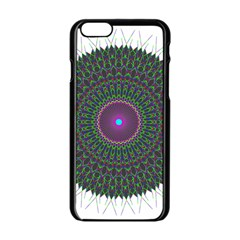 Pattern District Background Apple Iphone 6/6s Black Enamel Case